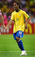 Ronaldinho (10) of Brazil argues a call. Brazil defeated Croatia 1-0 in their FIFA World Cup Group F match at the  Olympiastadion, Berlin, Germany, June 13, 2006.