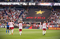 HARRISON, NJ - Friday April 17, 2015: The New York Red Bulls defeat the San Jose Earthquakes 2-0 at home at Red Bull Arena in 20th season of regular MLS play.