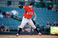 Indianapolis Indians pitcher Justin Wilson #45 during a game against the Empire State Yankees at Frontier Field on August 4, 2012 in Rochester, New York.  Empire State defeated Indianapolis 9-8 in ten innings.  (Mike Janes/Four Seam Images)