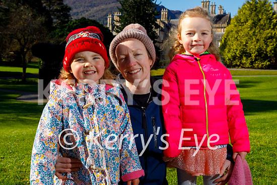 Enjoying a stroll in Muckross Gardens Killarney on Saturday, l to r: Noranne, Aoife and Niamh Dennehy.