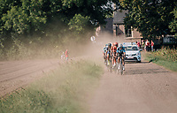 """Wout Van Aert (BEL/Veranda's Willems-Crelan) (and some...) chasing the race leaders<br /> <br /> Antwerp Port Epic 2018 (formerly """"Schaal Sels"""")<br /> One Day Race:  Antwerp > Antwerp (207 km; of which 32km are cobbles & 30km is gravel/off-road!)"""