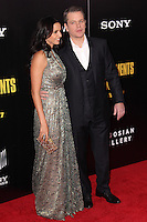 """NEW YORK, NY - FEBRUARY 04: Luciana Barroso, Matt Damon at the New York Premiere Of Columbia Pictures' """"The Monuments Men"""" held at Ziegfeld Theater on February 4, 2014 in New York City, New York. (Photo by Jeffery Duran/Celebrity Monitor)"""