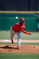 Philadelphia Phillies pitcher Starlyn Castillo (67) during an Instructional League intrasquad game on September 28, 2019 at Spectrum Field in Clearwater, Florida.  (Mike Janes/Four Seam Images)