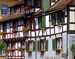 DEU, Deutschland, Baden-Wuerttemberg, Bodensee, Meersburg: Fachwerkhaeuser am Schloßplatz | DEU, Germany, Baden-Wuerttemberg, Lake Constance, Meersburg: half timbered houses at castle square