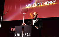 Picture by Simon Wilkinson/SWpix.com 01/122019 -  Rose d'Or 2019 Award Ceremony, red carpet arrivals and winners. Kings Place, London<br /> -  Sir Lenny Henry