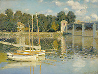 Claude Monet - The Bridge at Argenteuil (1874). Paris, musée d'Orsay.