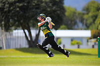 Anlo van Deventer bats during the women's Hallyburton Johnstone Shield one-day cricket match between the Wellington Blaze and Central Hinds at Donnelly Park in Levin, New Zealand on Sunday, 6 December 2020. Photo: Dave Lintott / lintottphoto.co.nz