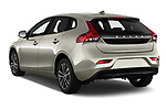 Car pictures of rear three quarter view of 2017 Volvo V40 Momentum 5 Door Hatchback Angular Rear