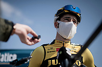 Wout van Aert (BEL/Jumbo-Visma) interviewed pre-stage<br /> <br /> Stage 1 from Lido di Camaiore to Lido di Camaiore (156km)<br /> <br /> 56th Tirreno-Adriatico 2021 (2.UWT) <br /> <br /> ©kramon