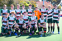 The Rathkeale team. 2020 Lower North Island Secondary Schools Hockey Boys Premiership tournament 5th place playoff between Rathkeale College and Lindisfarne College at Fitzherbert Park Twin Turfs in Palmerston North, New Zealand on Friday, 4 September 2020. Photo: Dave Lintott / lintottphoto.co.nz