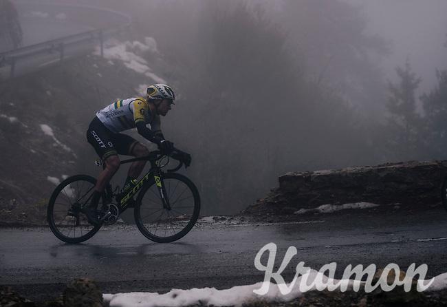 Australian Champion Alexander Edmondson (AUS/Michelton-Scott)<br /> <br /> 76th Paris-Nice 2018<br /> Stage 7: Nice > Valdeblore La Colmiane (175km)