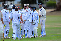 Action from the Pearce Cup Wellington men's cricket match between Taita and Hutt District at Fraser Park in Lower Hutt, New Zealand on Sunday, 21 March 2021. Photo: Dave Lintott / lintottphoto.co.nz