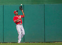 28 September 2014: Washington Nationals outfielder Michael Taylor makes a play against the Miami Marlins at Nationals Park in Washington, DC. The Nationals shut out the Marlins 1-0, caping the season with the first Nationals no-hitter in modern times. The win also notched a 96 win season for the Nats: the best record in the National League. Mandatory Credit: Ed Wolfstein Photo *** RAW (NEF) Image File Available ***