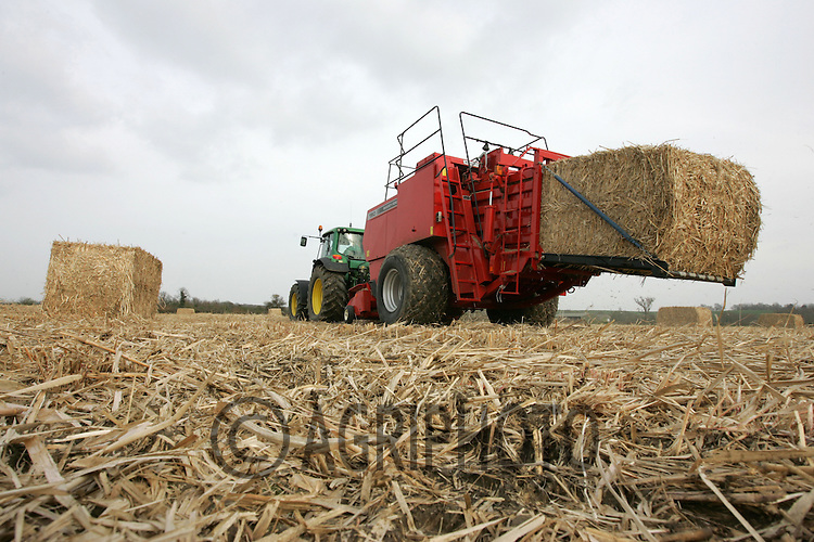 Baling Miscanthus For Use as Biofuel at a power station