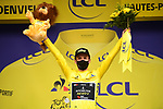 Adam Yates (GBR) Mitchelton-Scott retains the Yellow Jersey at the end of Stage 8 of Tour de France 2020, running 141km from Cazeres-sur-Garonne to Loudenvielle, France. 5th September 2020. <br /> Picture: ASO/Pauline Ballet | Cyclefile<br /> All photos usage must carry mandatory copyright credit (© Cyclefile | ASO/Pauline Ballet)
