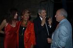 ROSI GRECO, GABRIELLA FAGNO, ALAIN ELKANN E FAUSTO BERTINOTTI<br /> VILLA FURIBONDA ROMA 2002