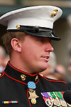 23 October. Dakota Meyer of Columbia, KY a Sergeant in the US Marine Corps who was presented with the Medal of Honor on Sept 15th, 2011 was a guest at Keeneland on the annual 'Military Day.'   He spent the day interacting with people, signing autographs, taking pictures, and enjoying live racing.   He also presented the trophy to the winners in the Rood and Riddle Dowager.