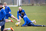 St Johnstone Training....30.04.21<br />Chris Kane talking with Ali McCann and Craig Byrson during training at McDiarmid Park ahead of tomorrows game at Hibs.<br />Picture by Graeme Hart.<br />Copyright Perthshire Picture Agency<br />Tel: 01738 623350  Mobile: 07990 594431