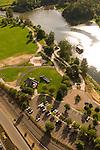 Aerial View of Riverfront City Park in Salem, Oregon