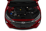 Car Stock 2020 Hyundai Elantra Limited 4 Door Sedan Engine  high angle detail view