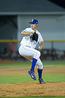 Burlington Royals relief pitcher Vance Tatum (32) in action against the Bluefield Blue Jays at Burlington Athletic Stadium on June 27, 2016 in Burlington, North Carolina.  The Royals defeated the Blue Jays 9-4.  (Brian Westerholt/Four Seam Images)