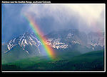 Probably the best rainbow I ever caught. Sneffels Range, San Juan Mountains near Ridgeway.<br /> John offers guided, photo tours of Colorado's mountains.