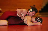 STANFORD, CA - FEBRUARY 6:  184 pounds Jake Johnson of the Stanford Cardinal during Stanford's 20-19 win against the Arizona State Sun Devils on February 6, 2009 at Burnham Pavilion in Stanford, California.