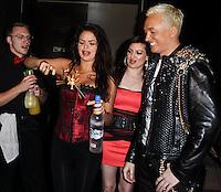 STUDIO CITY, CA - JUNE 23: Vikki Lizzi and KUBA Ka attend Polish Popstar KUBA Ka's concert at La Maison in Studio City on June 23, 2013 in Studio City, California. (Photo by Celebrity Monitor)