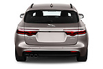 Straight rear view of a 2018 Jaguar XF Sportbrake R Sport 5 Door Wagon stock images
