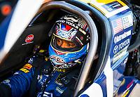 May 4, 2018; Commerce, GA, USA; NHRA top fuel driver Antron Brown during qualifying for the Southern Nationals at Atlanta Dragway. Mandatory Credit: Mark J. Rebilas-USA TODAY Sports