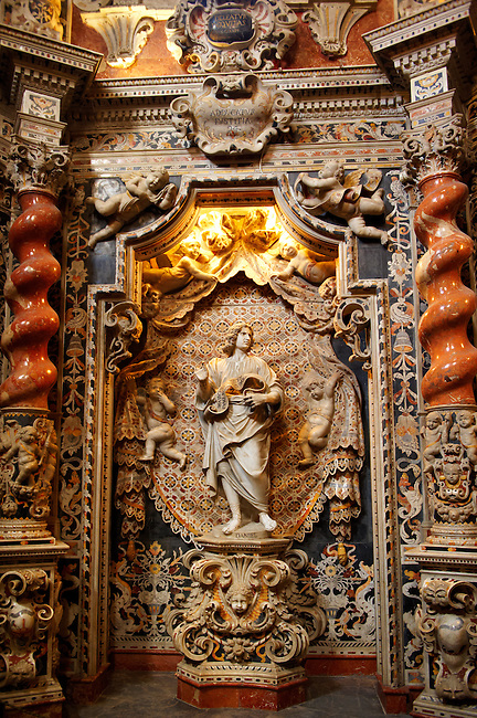 Baroque side chapel in the Cathedral of Monreale - Palermo - Sicily Pictures, photos, images & fotos photography