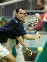 20-2-06, Netherlands, tennis, Rotterdam, ABNAMROWTT,  Hernych in action against Davydenko