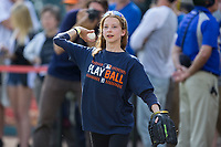 A young fan plays catch prior to the Major League Baseball game between the Chicago White Sox and the Detroit Tigers at Comerica Park on June 2, 2017 in Detroit, Michigan.  The Tigers defeated the White Sox 15-5.  (Brian Westerholt/Four Seam Images)