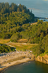 Aerial View of the Maya Lin Confluence Project at Cape Disappointment State Park, Washington