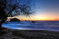 Sunset at the coast of N. Fokea in Attiki, Greece