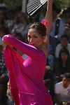 WOMEN DANCES AT FIESTA DE LA VENDIMIA IN VALLE DE GUADALUPE MEXICO