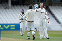 Rikki Clarke, Surrey CCC made early breakthrough during Surrey CCC vs Hampshire CCC, LV Insurance County Championship Group 2 Cricket at the Kia Oval on 1st May 2021