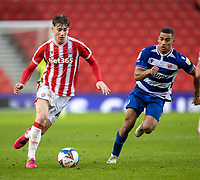 6th February 2021; Bet365 Stadium, Stoke, Staffordshire, England; English Football League Championship Football, Stoke City versus Reading; Jack Clarke of Stoke City controls the ball