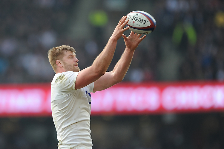 George Kruis of England during the RBS 6 Nations match between England and Wales at Twickenham Stadium on Saturday 12th March 2016 (Photo: Rob Munro/Stewart Communications)