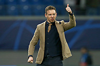 10.03.2020, Fussball UEFA Champions League 2019/2020, Achtelfinale, RB Leipzig - Tottenham Hotspur, in der Red Bull Arena Leipzig. Schlussjubel Trainer Julian Nagelsmann RB Leipzig ***DFL and DFB regulations prohibit any use of photographs as image sequences and/or quasi-video.*** *** 10 03 2020, Football UEFA Champions League 2019 2020, Round of 16, RB Leipzig Tottenham Hotspur, in the Red Bull Arena Leipzig Final Coach Julian Nagelsmann RB Leipzig DFL and DFB regulations prohibit any use of photographs as image sequences and or quasi video<br /> Bundesliga<br /> Foto Imago/Insidefoto <br /> ITALY ONLY