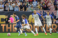 Houston, TX - Tuesday June 21, 2016: Lionel Messi, Jermaine Jones during a Copa America Centenario semifinal match between United States (USA) and Argentina (ARG) at NRG Stadium.