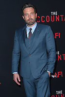 Ben Affleck @ the premiere of 'The Accountant' held @ the Chinese theatre in Hollywood, USA, October 10, 2016. # 'THE ACCOUNTANT' PREMIERE IN HOLLYWOOD