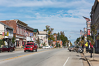 Small town Main Street, Girard, Pennsylvania, USA.