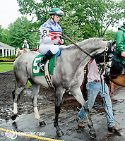 Hiram with Katelyn Avelia aboard before The International Ladies Fegentri Race at Delaware Park on 6/10/13