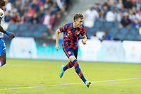 KANSAS CITY, KS - JULY 11: Sam Vines #3 of the United States scores a goal during a game between Haiti and USMNT at Children's Mercy Park on July 11, 2021 in Kansas City, Kansas.