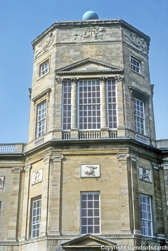Oxford: Radcliffe Observatory, Tower--close up. Photo '87.