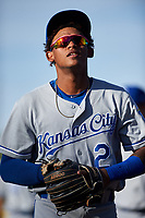 AZL Royals Herard Gonzalez (2) before an Arizona League game against the AZL Cubs 1 on June 30, 2019 at Sloan Park in Mesa, Arizona. AZL Royals defeated the AZL Cubs 1 9-5. (Zachary Lucy/Four Seam Images)