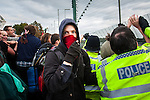 © Joel Goodman - 07973 332324 - all rights reserved . 17/10/2009 . Nottingham , UK . Climate change protest at the Ratcliffe-on-Soar coal-fired power station in Nottinghamshire . Photo credit : Joel Goodman