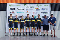 Next Generation team. The opening ceremony of the 2021 NZ Cycle Classic UCI Oceania Tour at Mitre 10 Mega in Masterton, New Zealand on Wednesday, 13 January 2021. Photo: Dave Lintott / lintottphoto.co.nz