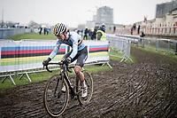 Anton Ferdinande (BEL/Pauwels Sauzen-Bingoal)<br /> <br /> UCI 2021 Cyclocross World Championships - Ostend, Belgium<br /> <br /> U23 Men's Race<br /> <br /> ©kramon